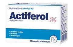 ACTIFEROL Fe 0,03g x 30 kapsułek - data ważności 30-11-2015r.