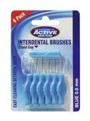 BEAUTY FORMULAS Active Interdental Brushes czyściki do przestrzeni międzyzębowych 0,6mm x 6 sztuk