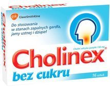CHOLINEX x 16 past. do ssania bez cukru