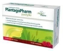 PLANTAGOPHARM x 16 pastylek do ssania smak malinowy