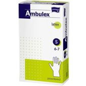 Rękawice Ambulex Lateks niejałowe pudrowane rozmiar S x 100 sztuk