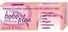 TEST Bobo Plan owulacyjny 5 szt + BoboTest ciążowy Gratis