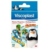 Viscoplast Pingwiny z Madagaskaru zestaw plastrów  x 10 sztuk