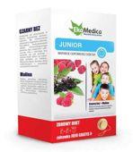 ZDROWY DUET Junior Wsparcie odporności dziecka Czarny bez 500ml+Malina 500ml