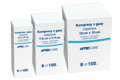 APTEO Kompresy gazowe niejałowe 17n/8w 5cm x 5cm x 100 sztuk