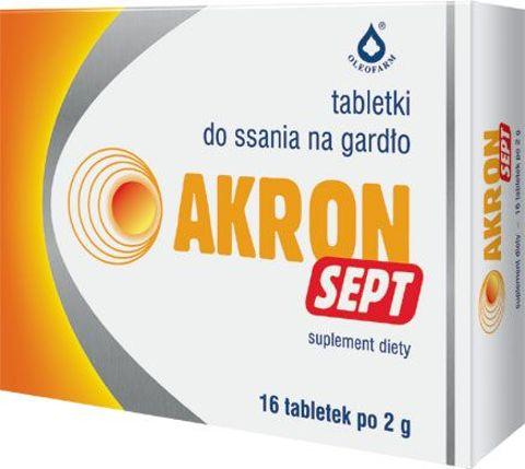 AKRON SEPT x 16 tabletek
