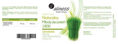 ALINESS Naturalny Młody Jęczmień 1800 x 120 tabletek