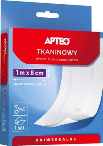 APTEO CARE Plaster tkaninowy z opatrunkiem 1m x 8cm