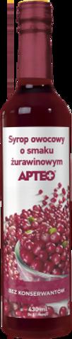 APTEO Syrop o smaku żurawionowym 430ml