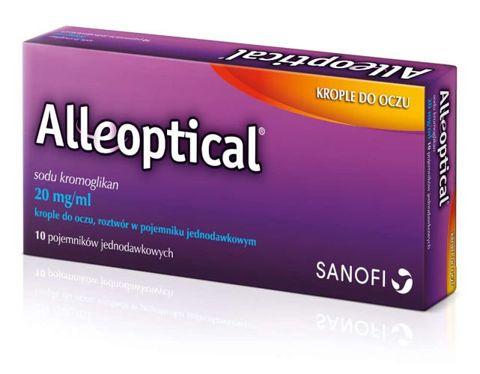 Alleoptical 20 mg/ml krople do oczu x 10  pojemników jednodawkowych