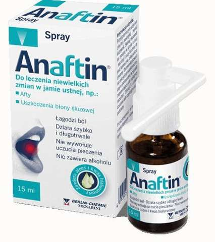 Anaftin Spray na afty 15ml