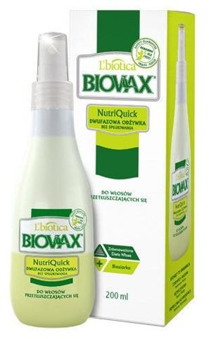BIOVAX Dwufazowa odżywka bez spłukiwania do włosów przetłuszczających się 200ml