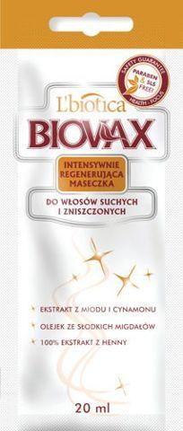 BIOVAX Maseczka do włosów suchych i zniszczonych 20ml x 10 saszetek