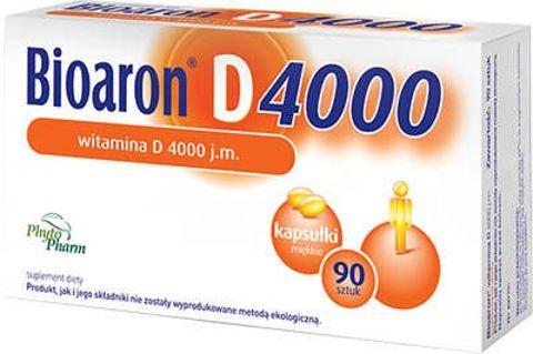 Bioaron Witamina D 4000j.m. x 90 kapsułek