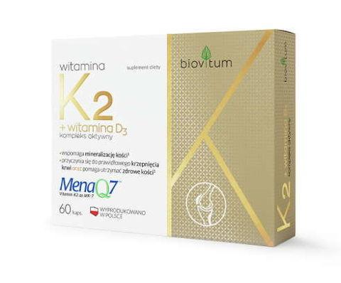 Biovitum Witamina K2 + D3 x 30 kapsułek