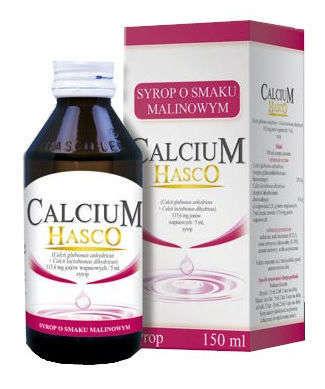 CALCIUM HASCO Syrop o smaku malinowym 150ml
