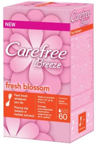CAREFREE Breeze Fresh Blossom wkładki x 60 sztuk