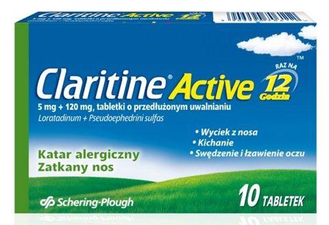 CLARITINE Active x 10 tabletek