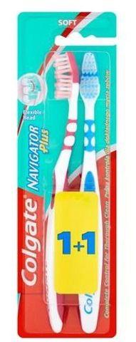 COLGATE Navigator Plus Soft (miękka) Szczoteczka do zębów 1sztuka + 1sztuka