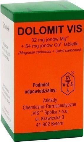 DOLOMIT VIS 0,25 x 72 tabletki