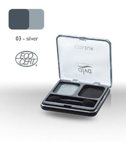 DUET cieni do powiek 03 - Silver 4 g