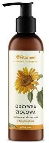 """FITOMED Odżywka ekstraziołowa do włosów koloryzowanych (odcienie jasne) """"Rumianek i płatki słonecznika"""" 200ml"""