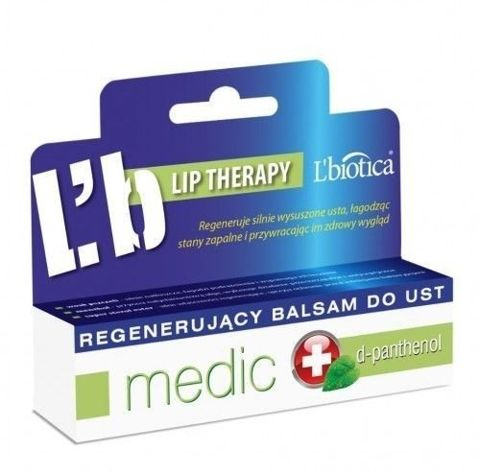 L'BIOTICA Medic regenerujacy balsam do ust 10ml