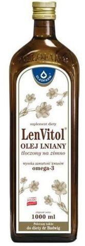 LENVITOL Olej lniany Budwigowy nieoczyszczony 1000ml