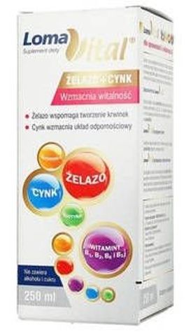 LOMA VITAL Żelazo+Cynk płyn 250ml