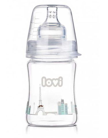 LOVI Butelka szklana Diamond Glass Retro Boy 150ml 74/103