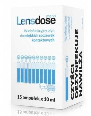 Lensdose mono płyn do soczewek 10ml x 15 ampułek