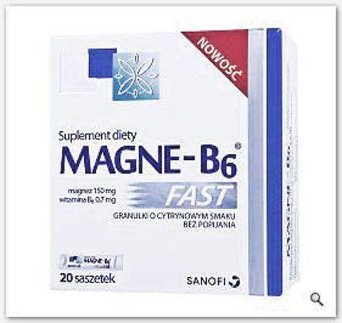 MAGNE-B6 Fast x 20 saszetek