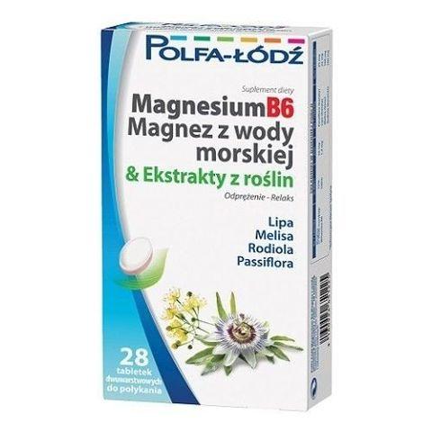 MAGNESIUMB6 Magnez z wody morskiej & Ekstrakty z roślin x 28 tabletek