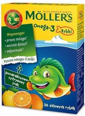MOLLER'S OMEGA-3 RYBKI x 36 żelek