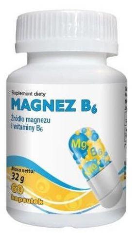 Magnez B6 + Cynk x 60 kapsułek