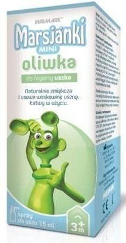 Marsjanki MINI oliwka do higieny uszka 15ml