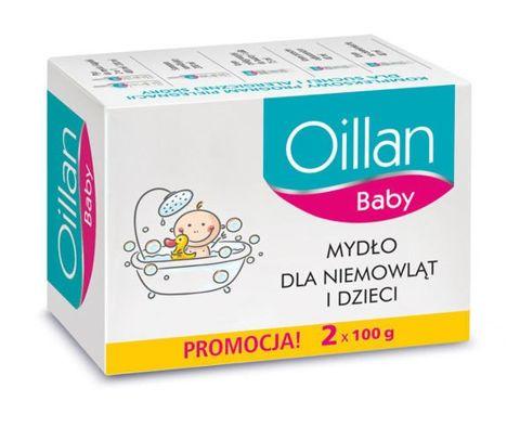 OILLAN BABY Mydło dla niemowląt i dzieci 2x100g