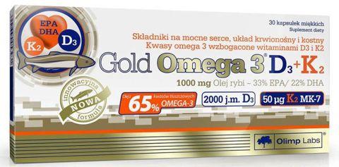 OLIMP Gold Omega 3 D3+K2 x 30 kapsułek