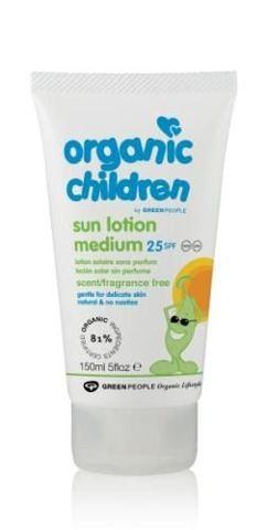 Organic Children Bezzapachowe mleczko do opalania dla dzieci SPF25 150ml
