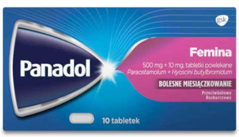 PANADOL FEMINA x 10 tabletek