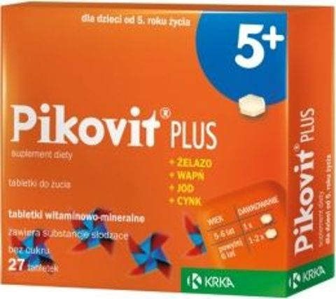 PIKOVIT PLUS x 27 tabletek do żucia od 5-go roku życia