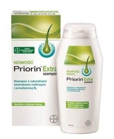 PRIORIN EXTRA Szampon z naturalnymi ekstraktami roślinnymi i prowitaminą B5 200ml