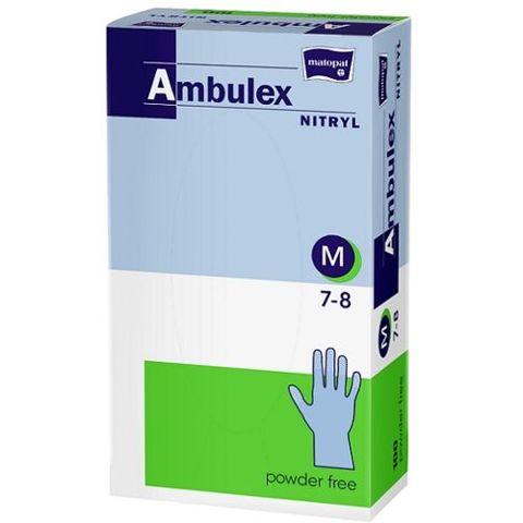 Rękawice Ambulex Nitryl niejałowe niepudrowane rozmiar M x 100 sztuk