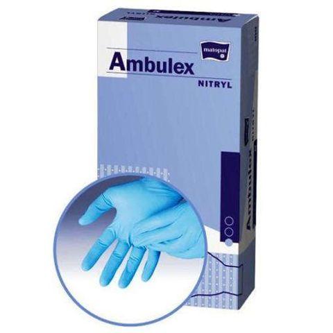 Rękawice Ambulex Nitryl niejałowe pudrowane rozmiar L x 100 sztuk