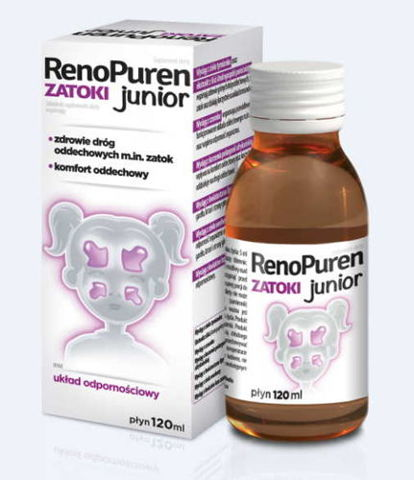 Renopuren Zatoki junior płyn 120ml