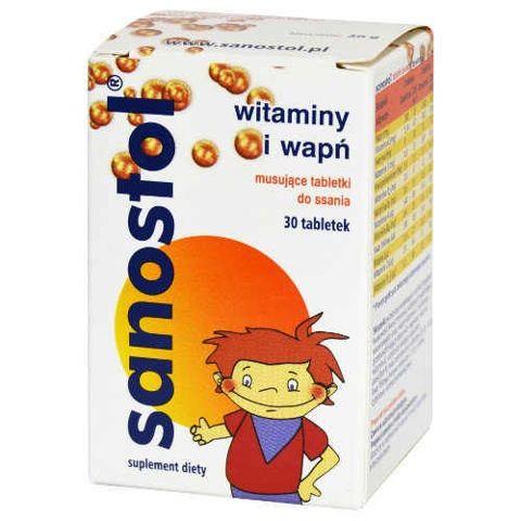 SANOSTOL x 30 tabletek do ssania