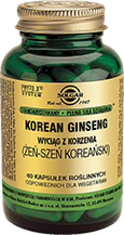 SOLGAR Żeń-szeń Koreański x 60 kapsułek