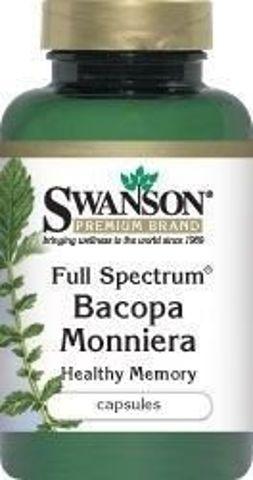 SWANSON Full Spectrum Bacopa Monniera 500mg x 90 kapsułek