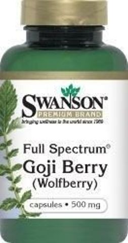 SWANSON Full Spectrum Goji 500mg x 60 kapsułek