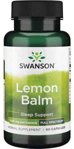 SWANSON Full Spectrum Lemon Balm 500mg x 60 kapsułek